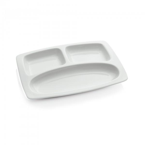 Abteilschale - Porzellan - 3-fach Einteilung