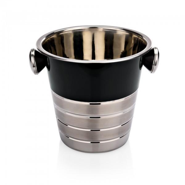 Flaschenkühler - Chromnickelstahl - mit schwarzer Pulverbeschichtung