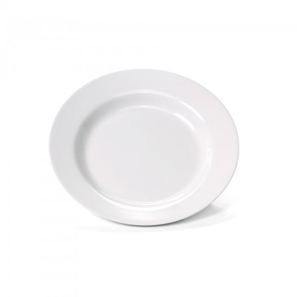 Teller - Melamin - weiß - tief
