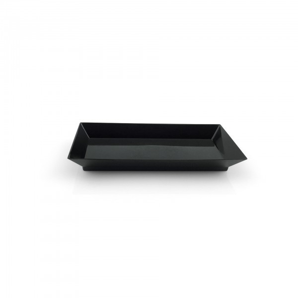Petit-Teller - Polystyrol - schwarz - rechteckig - 25 Stück - extra preiswert