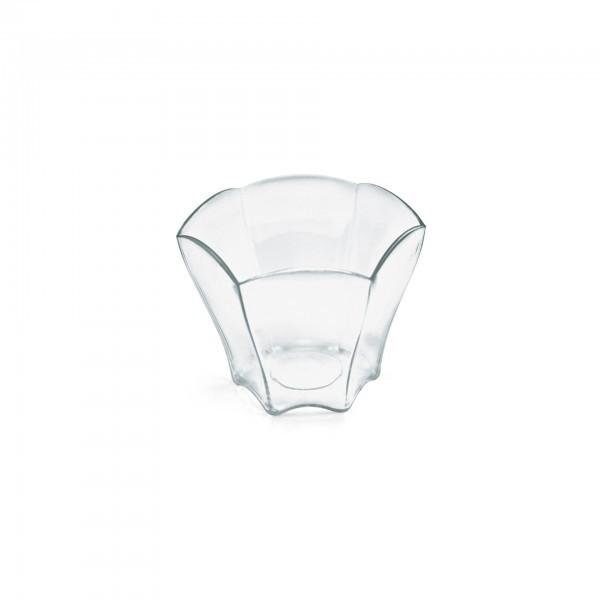 Petit-Becher - Polystyrol - transparent - sechseckig - 24 Stück - extra preiswert