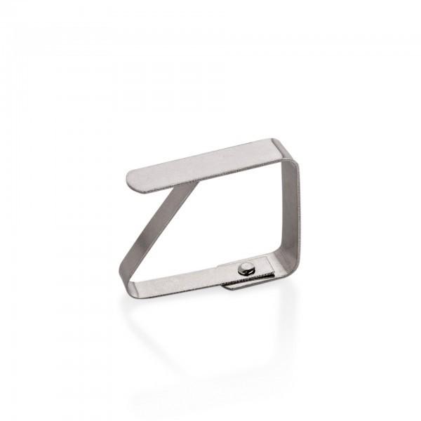Tischtuchklammer - Edelstahl - für Tischplatten bis 4 cm Stärke