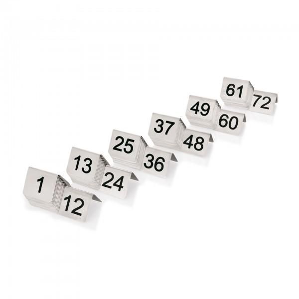 Tischnummernschild - Chromnickelstahl - 12-teilig