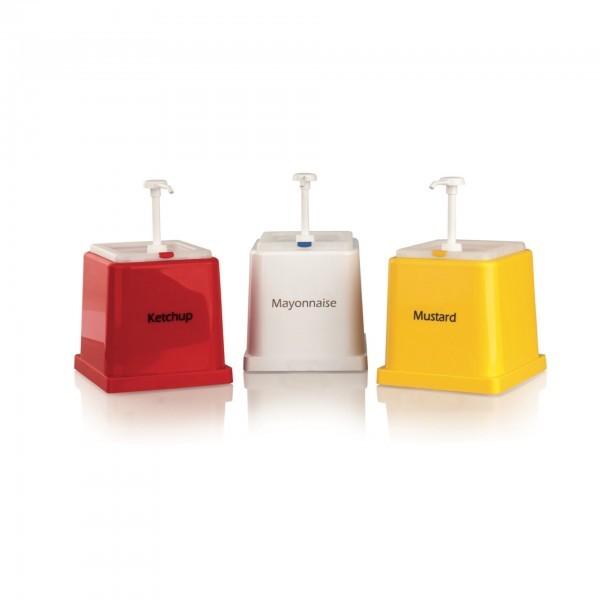 Saucenspender - ABS - rot - weiß - gelb - 3894.001