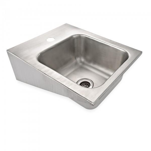 Handwaschbecken - Chromnickelstahl - für Wandmontage - premium Qualität