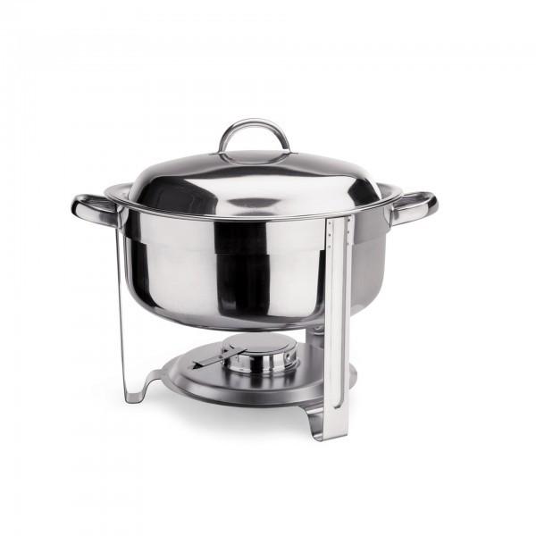 Suppen Chafing Dish - Chromnickelstahl - rund - mit Speiseeinsatz - 1460 750