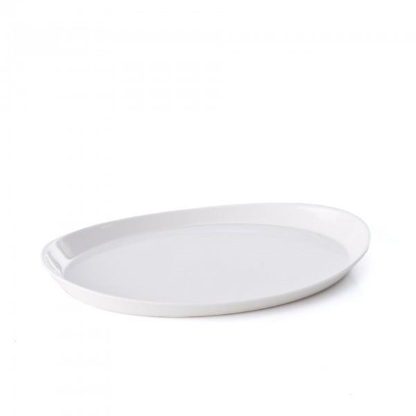 Tablett - Melamin - weiß - oval - 29 x 21 cm