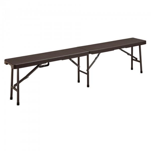 Sitzbank - HDPE - schwarz - rechteckig