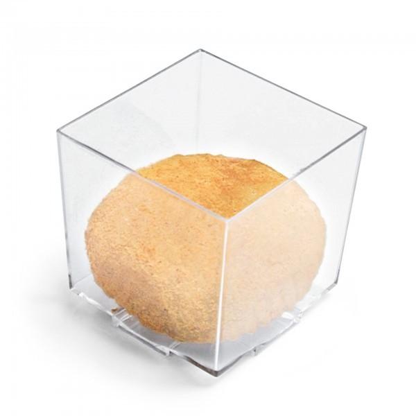 Petit-Becher - Polystyrol - transparent - quadratisch - 20 Stück - extra preiswert