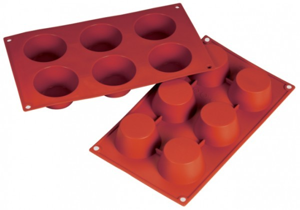 Silikon-Backform, Muffin, 6 Formen - 6,9x3,5 cm