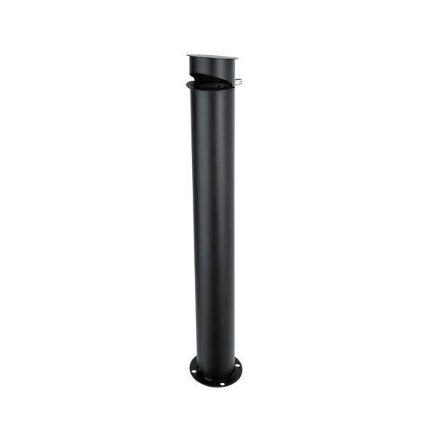 Standascher - Stahl - schwarz - 4 Bodenankern zur Befestigung