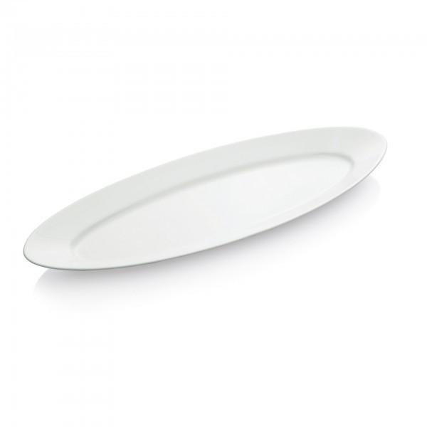 Servierplatte - Porzellan - längs