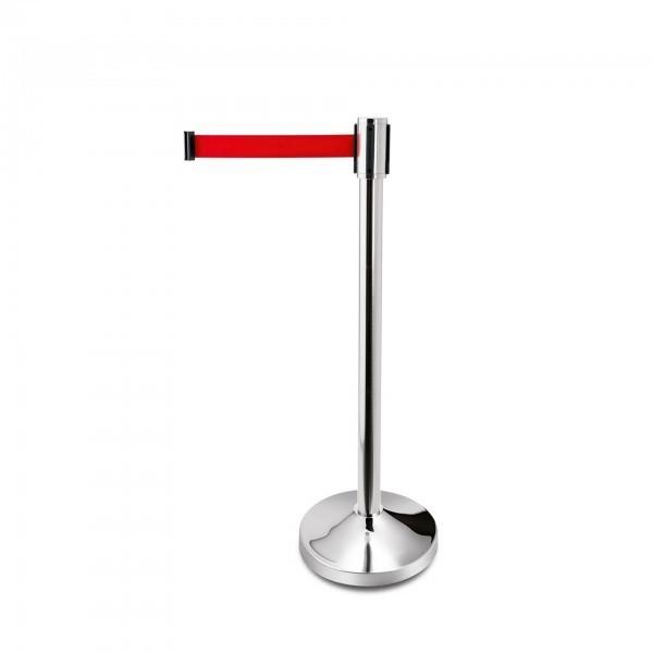Gurtständer - FlexiLeit eco - Edelstahl - Gurtlänge 3 m - Farbe: rot oder schwarz