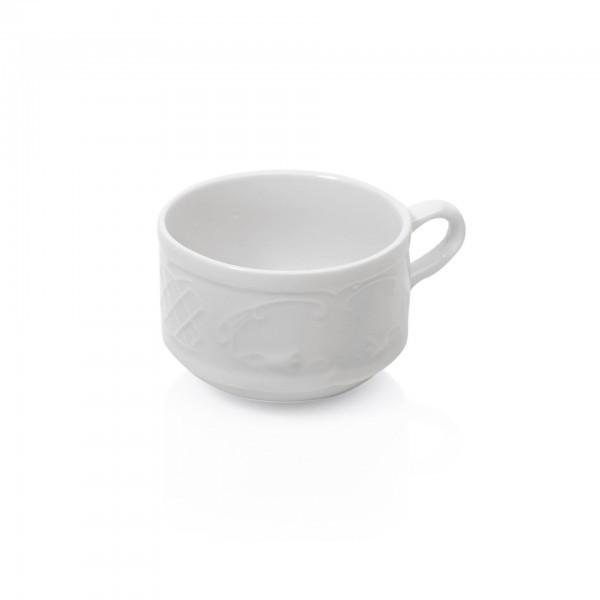 Obertasse - Serie Bavaria - Porzellan - mit Dekorrand - premium Qualität