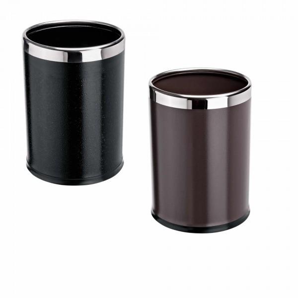 Papierkorb - Stahl - schwarz oder braun - 2-teilig - premium Qualität