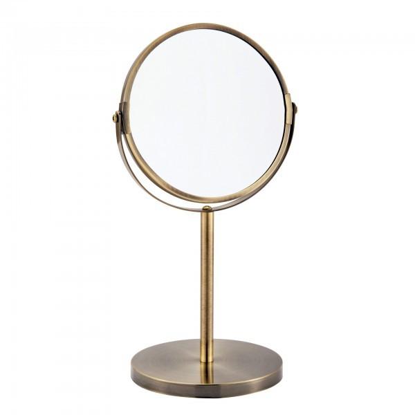 Kosmetikspiegel - Messing - normal und dreifache Vergrößerung