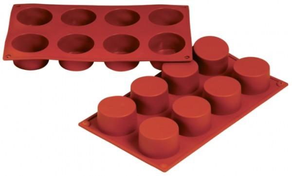 Silikon-Backform, Zylinder / Ramekin, 8 Formen - 6x3 cm