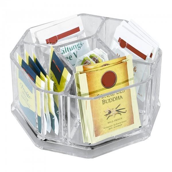 Box - Acryl - transparent - mit 5 Einteilungen