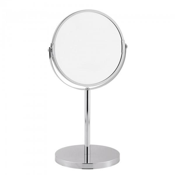 Kosmetikspiegel - verchromt - normal und dreifache Vergrößerung