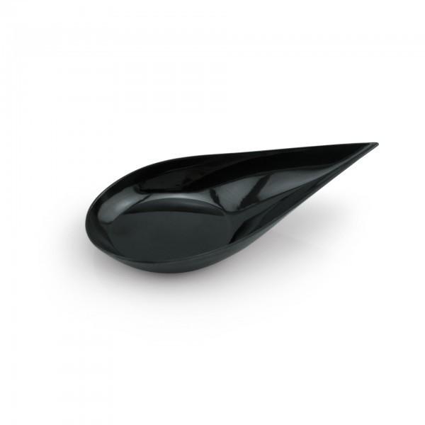 Petit-Schälchen - Polystyrol - schwarz - tropfen - 20 Stück - extra preiswert