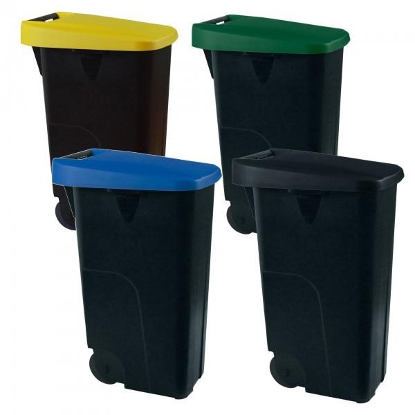 Abfallbehälter - blau, grün, gelb, schwarz - 9236.851