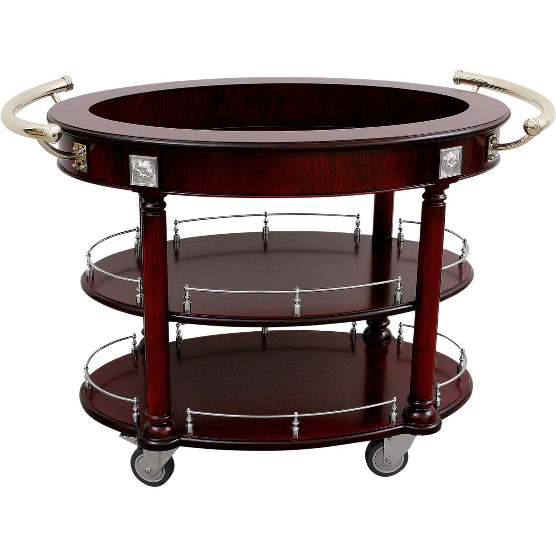 getr nke servierwagen rund mit 3 ablagefl chen kaufen. Black Bedroom Furniture Sets. Home Design Ideas